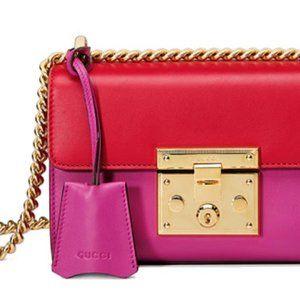 Gucci Padlock small Women's Shoulder Bag Pink